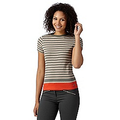 Maine New England - Dark orange striped hem t-shirt