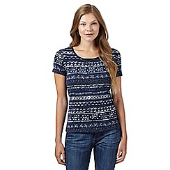 Maine New England - Navy aztec print t-shirt
