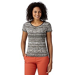 Maine New England - Taupe aztec striped t-shirt