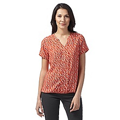 Maine New England - Dark orange triangle print top