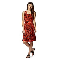 Maine New England - Dark orange floral jersey dress