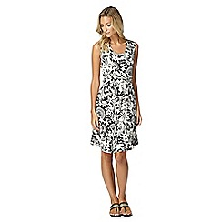 Maine New England - Black floral jersey dress
