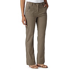 Maine New England - Taupe textured trousers