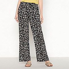 Maine New England - Black button pocket cropped trousers
