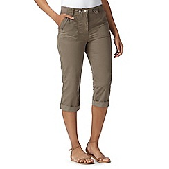 Maine New England - Taupe cropped trousers