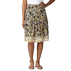 Maine New England - Yellow banana leaf print skirt