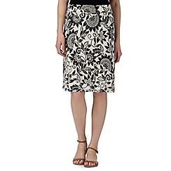 Maine New England - Black sunflower jersey skirt