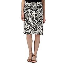 Maine New England - Black sunflower jersey skirt