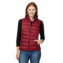 Maine New England - Dark red packable down gilet