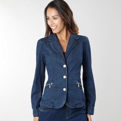 Blue Essential Denim Blazer