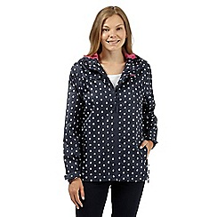 Maine New England - Navy spotted shower resistant mac jacket