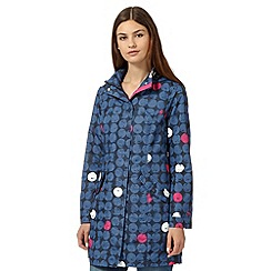 Maine New England - Blue shower resistant spotted parka jacket