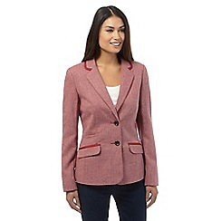 Maine New England - Dark pink herringbone blazer