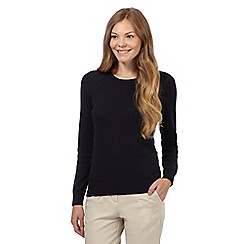 Maine New England - Navy French knot jumper