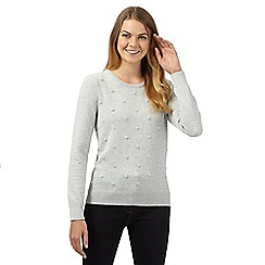 Maine New England - Light grey french knot jumper
