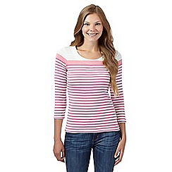 Maine New England - Pink graduated stripe top