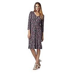 Maine New England - Pink bud printed jersey dress