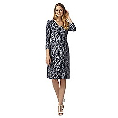 Maine New England - Blue bud printed jersey dress