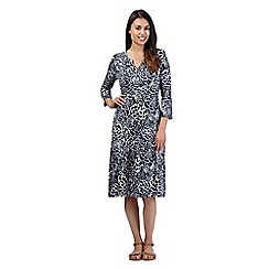 Maine New England - Navy floral jersey maxi dress