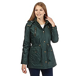 Maine New England - Dark green hooded waxed parka jacket