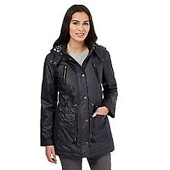 Maine New England - Navy hooded waxed parka jacket