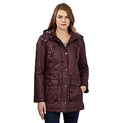 Maine New England - Purple waxed hooded rain coat