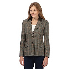 Maine New England - Brown dogtooth checked blazer