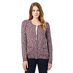 Maine New England - Purple zipped cardigan