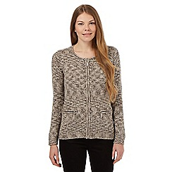 Maine New England - Brown zipped cardigan