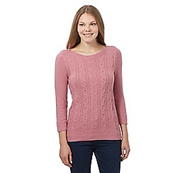 Maine New England - Pink cable knit jumper