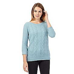 Maine New England - Light green cable knit jumper