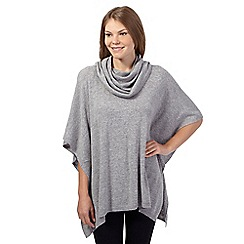Maine New England - Grey cowl neck poncho