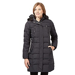 Maine New England - Dark grey feather down padded coat