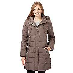 Maine New England - Taupe feather down padded coat