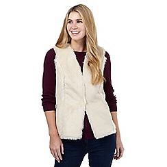 Maine New England - Natural faux shearling gilet