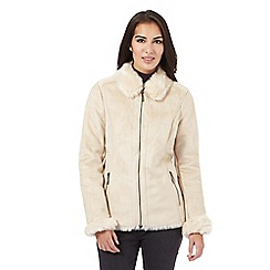 Maine New England - Natural faux shearling jacket