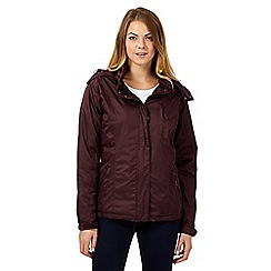 Maine New England - Dark purple fleece lined performance rain coat