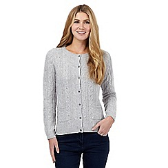 Maine New England - Grey cable knit cardigan