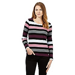 Maine New England - Purple block striped top