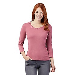 Maine New England - Light Pink scooped neck top