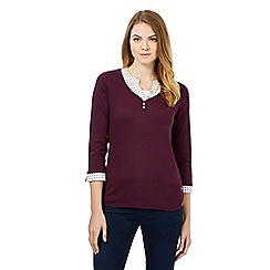Maine New England - Purple mock grandad top