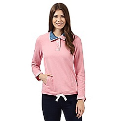 Maine New England - Pink funnel neck top