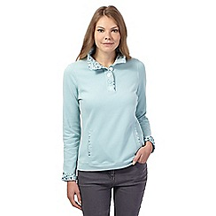 Maine New England - Pale green button neck sweat top