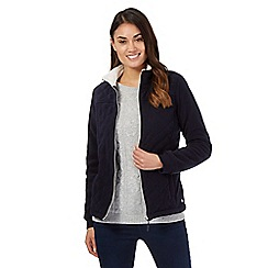 Maine New England - Navy quilted fleece jacket