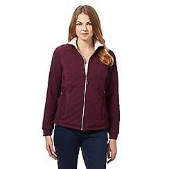 Maine New England - Purple quilted fleece jacket