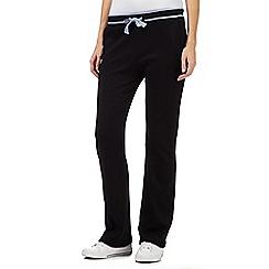 Maine New England - Black striped waistband sweat jogging bottoms