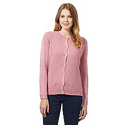 Maine New England - Pink crew neck cardigan