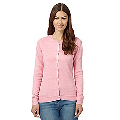 Maine New England - Pale pink super soft crew neck cardigan
