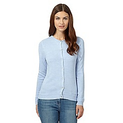 Maine New England - Light blue super soft crew neck cardigan