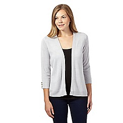 Maine New England - Grey soft edge to edge cardigan